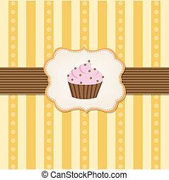 vendange, fond, petit gâteau