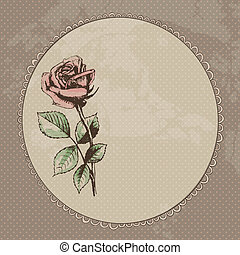 vendange, fond, roses