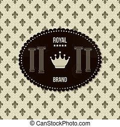 vendange, fond, royal