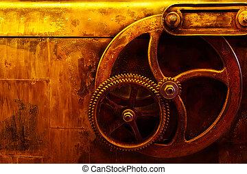vendange, fond, steampunk