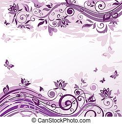 vendange, fond, violet