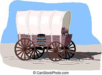 vendange, fourgon, transport