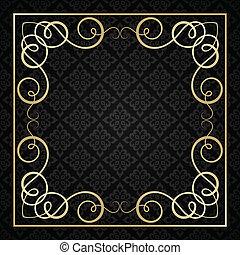 vendange, frame., calligraphic