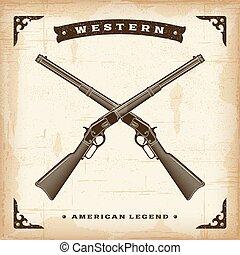 vendange, fusils, occidental