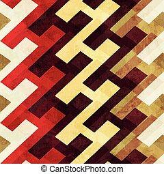 vendange, géométrique, seamless, modèle