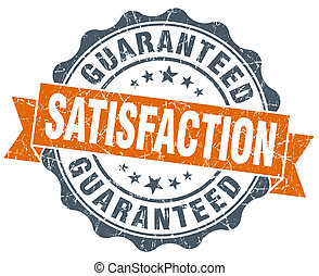vendange, guaranteed, isolé, satisfaction, cachet, orange, ...
