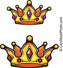 vendange, héraldique, couronne