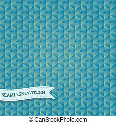 vendange, hexagonal, vecteur, mosaïque, fond