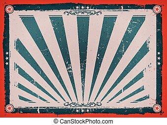 vendange, horizontal, jour, indépendance, affiche