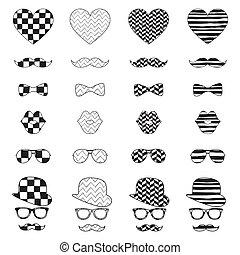 vendange, icône, hipster, modèle fond
