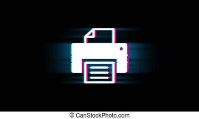 vendange, informatique, retro, impression, imprimante, ...