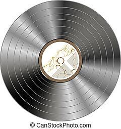vendange, -, isolé, enregistrement, vecteur, retro, vinyle