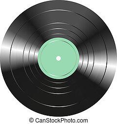 vendange, isolé, enregistrement, vinyle, fond, blanc