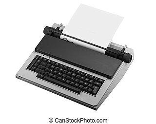 vendange, isolé, machine écrire