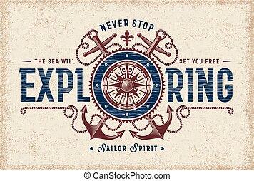 vendange, jamais, arrêt, typographie, explorer