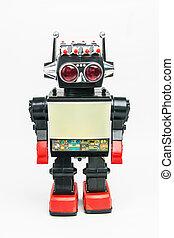 vendange, jouet, retro, robot, classique