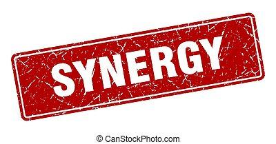 vendange, label., signe, synergie, rouges, stamp.