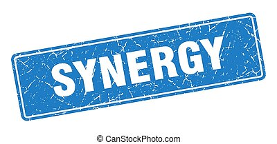 vendange, label., signe, synergie, stamp., bleu