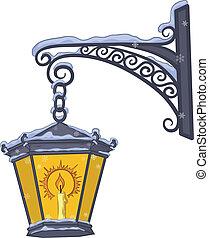 vendange, lanterne