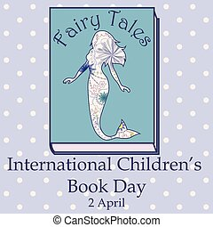 vendange, livre, childrens, sirène, jour