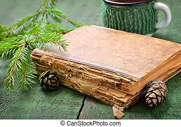 vendange, livre, vieux