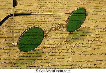 vendange, lunettes