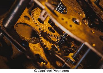 vendange, mécanisme, horloge