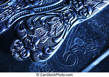 vendange, métal, texture, fond