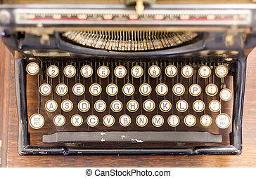 vendange, machine écrire