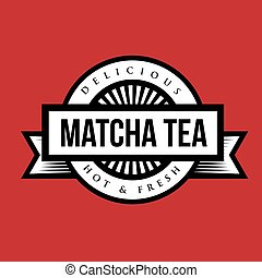 vendange, machta, thé, signe, ou, logo