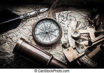vendange, marin, nature morte