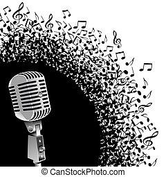vendange, mic, notes