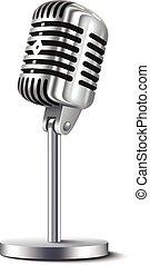 vendange, microphone, isolé