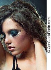 vendange, modèle, mode, photo
