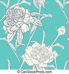 vendange, modèle, seamless, floral
