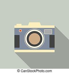 vendange, moderne, conception, appareil-photo.