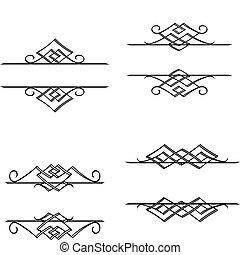 vendange, monogrammes, motifs