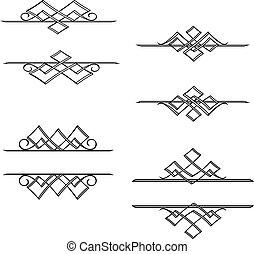 vendange, monogrammes