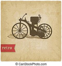 vendange, motocyclette, fond