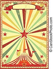 vendange, multicolore, cirque, rayons soleil, fond