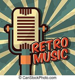vendange, musique, retro
