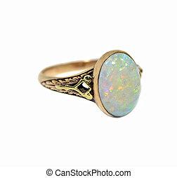 vendange, opale, anneau