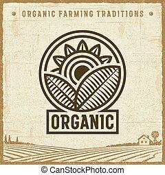 vendange, organique, étiquette