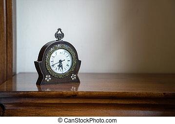 vendange, ou, bois, retro, horloge