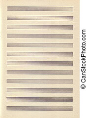 vendange, papier, musique