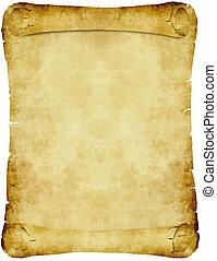 vendange, papier, parchemin, rouleau