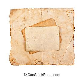 vendange, papier, vieux, fond