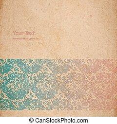 vendange, papier, vieux, texture