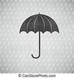 vendange, parapluie, noir