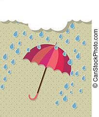 vendange, parapluie